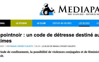 #Lepointnoir : un code de détresse destiné aux victimes