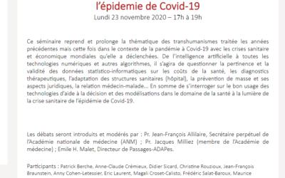 Séminaire : «Médecine, sciences, psychanalyse», Comité Passages – Académie de médecine