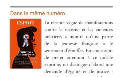 «L'Extime des téléconsultations», Revue ESPRIT, novembre 2020.