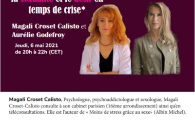 Jeudi 6 mai 2021: «La sexualité et le désir en temps de crise», Magali Croset-Calisto et Aurélie Godefroy au Journal parlé de Passages.